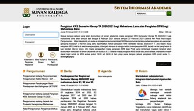 What Akademik.uin-suka.ac.id website looks like in 2021