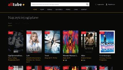 What Alltube.tv website looks like in 2021