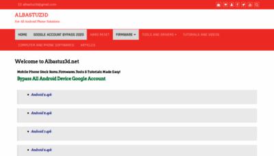What Albastuz3d.net website looks like in 2021
