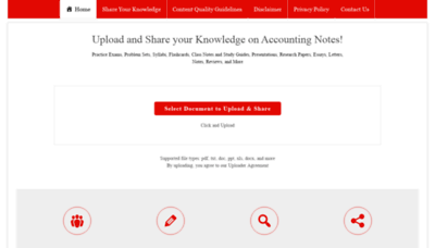 What Accountingnotes.net website looks like in 2021