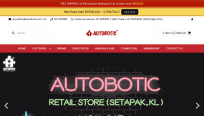 What Autobotic.com.my website looks like in 2021