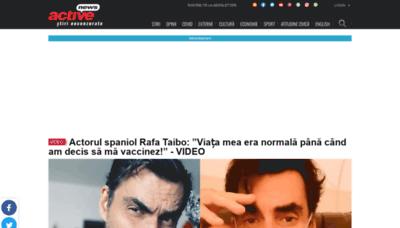 What Activenews.ro website looks like in 2021