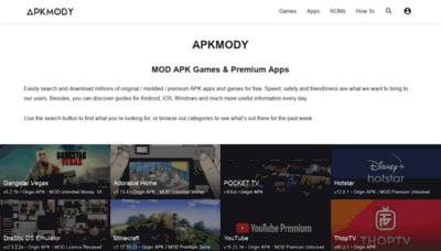 What Apkmody.io website looks like in 2021