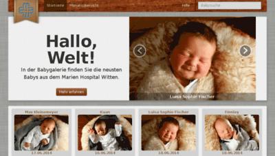 What Babygalerie-marien-hospital-witten.de website looked like in 2014 (7 years ago)