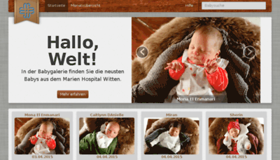 What Babygalerie-marien-hospital-witten.de website looked like in 2015 (6 years ago)