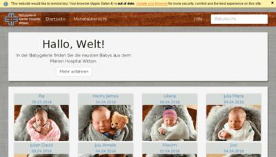 What Babygalerie-marien-hospital-witten.de website looked like in 2016 (5 years ago)