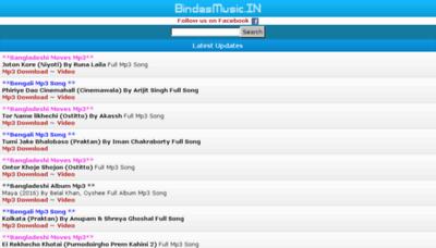 What Bindasmusic.in website looked like in 2016 (5 years ago)