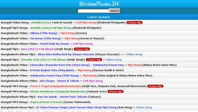 What Bindasmusic.in website looked like in 2017 (4 years ago)