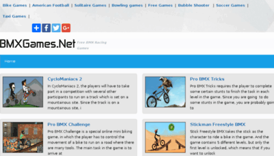 What Bmxgames.net website looked like in 2017 (4 years ago)