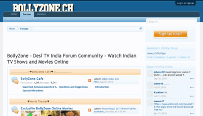 What Bollyzone.me website looked like in 2017 (3 years ago)