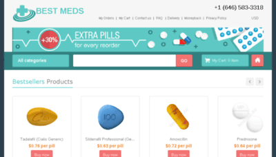 What Bestmeds.biz website looked like in 2018 (3 years ago)