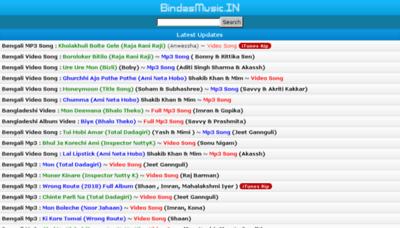 What Bindasmusic.in website looked like in 2018 (3 years ago)