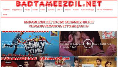 What Badtameez-dil.net website looked like in 2018 (3 years ago)