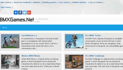 What Bmxgames.net website looked like in 2018 (3 years ago)
