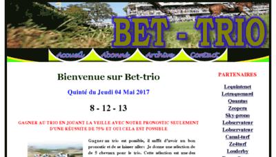 What Bet-trio.siteturf.net website looked like in 2018 (3 years ago)