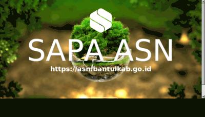 What Bkpp.bantulkab.go.id website looked like in 2018 (3 years ago)
