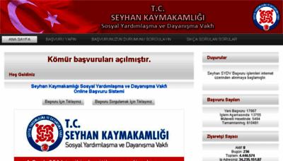 What Basvuru.seyhansydv.gov.tr website looked like in 2018 (3 years ago)