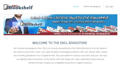 What Bookshelf.encl.lk website looked like in 2018 (3 years ago)