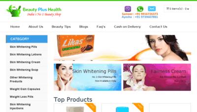 What Beautyplushealth.in website looked like in 2018 (3 years ago)