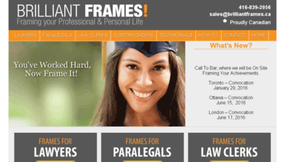 What Brilliantframes.ca website looked like in 2018 (3 years ago)