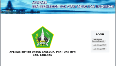 What Bphtb-online.tabanankab.go.id website looked like in 2018 (2 years ago)
