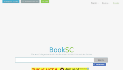 What Booksc.xyz website looked like in 2018 (2 years ago)