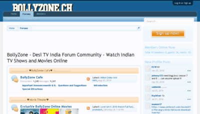 What Bollyzone.me website looked like in 2018 (2 years ago)