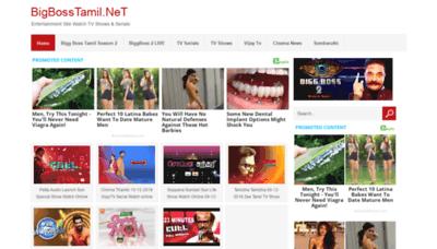 What Biggbosstamil.net website looked like in 2018 (2 years ago)