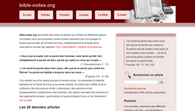 What Bible-notes.org website looked like in 2018 (2 years ago)