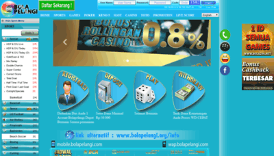 What Bolapelangi.net website looked like in 2019 (2 years ago)