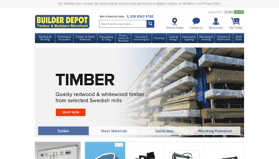 What Builderdepot.co.uk website looked like in 2019 (2 years ago)