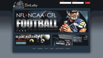 What Betlefty.net website looked like in 2019 (2 years ago)