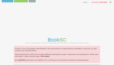 What Booksc.org website looked like in 2019 (2 years ago)