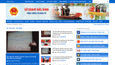 What Bacninh.edu.vn website looked like in 2019 (1 year ago)