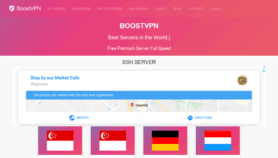What Boostvpn.net website looked like in 2019 (1 year ago)