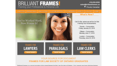 What Brilliantframes.ca website looked like in 2019 (1 year ago)