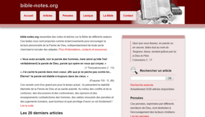 What Bible-notes.org website looked like in 2019 (1 year ago)