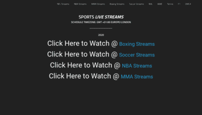 What Buffstream.live website looked like in 2020 (1 year ago)