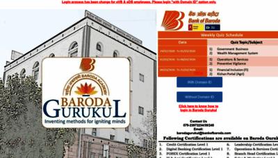 What Barodagurukul.co.in website looked like in 2020 (1 year ago)