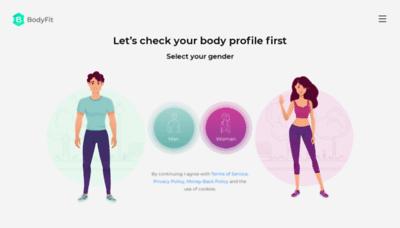 What Bodyfitplan.me website looked like in 2020 (1 year ago)