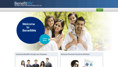 What Benefitme.co.in website looked like in 2020 (1 year ago)