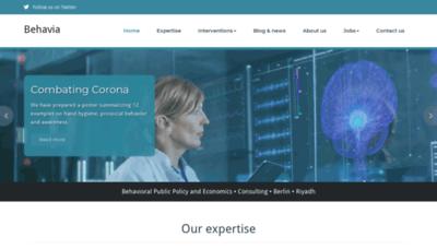 What Behavia.de website looked like in 2020 (1 year ago)
