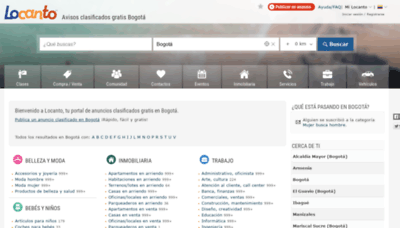 What Bogota.locanto.com.co website looked like in 2020 (1 year ago)