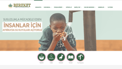 What Bereket.org.tr website looked like in 2020 (1 year ago)