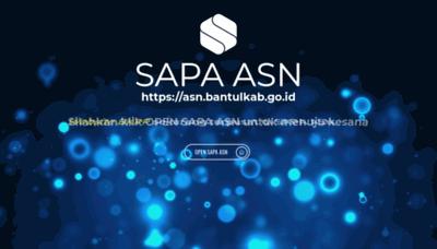 What Bkpp.bantulkab.go.id website looked like in 2020 (1 year ago)