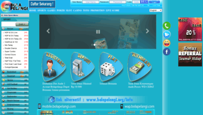 What Bolapelangi.net website looked like in 2020 (1 year ago)