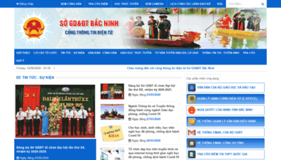 What Bacninh.edu.vn website looked like in 2020 (1 year ago)
