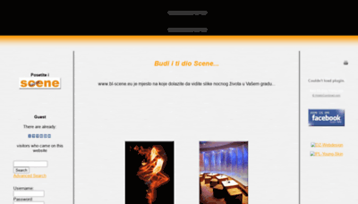 What Bl-scene.eu website looked like in 2020 (1 year ago)