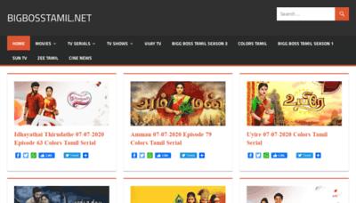 What Bigbosstamil.net website looked like in 2020 (1 year ago)
