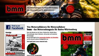 What Bmm-magazin.de website looked like in 2020 (1 year ago)